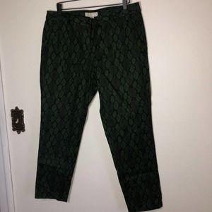 Michael by Michael Kors Reptile Printed Work Pants